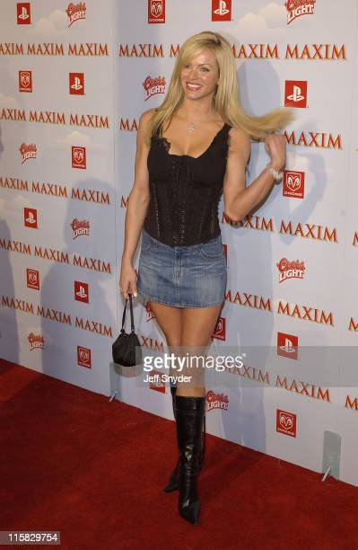 Nikki Ziering During The Maxim Party At Super Bowl Xxxvii At The Old Wonderbread Factory In