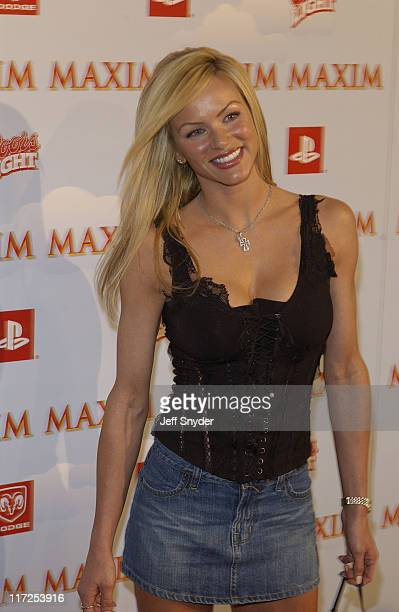 Nikki Ziering during The Maxim Party at Super Bowl XXXVII at The Old Wonderbread Factory in San Diego CA