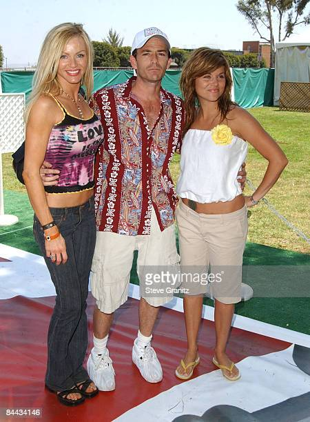 Nikki Ziering Luke Perry and Tiffani Thiessen at the 2004 Target A Time for Heroes Celebrity Carnival to benefit the Elizabeth Glaser Pediatric AIDS...
