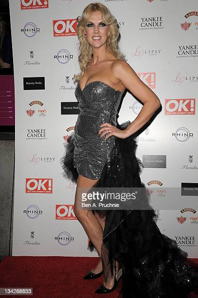 Nikki Zilli attends OK Magazines Christmas party at Floridita on November 29 2011 in London England