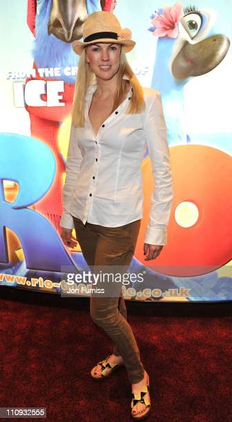 Nikki Zilli attends the gala screening of 'Rio' at Empire Leicester Square on March 27 2011 in London England