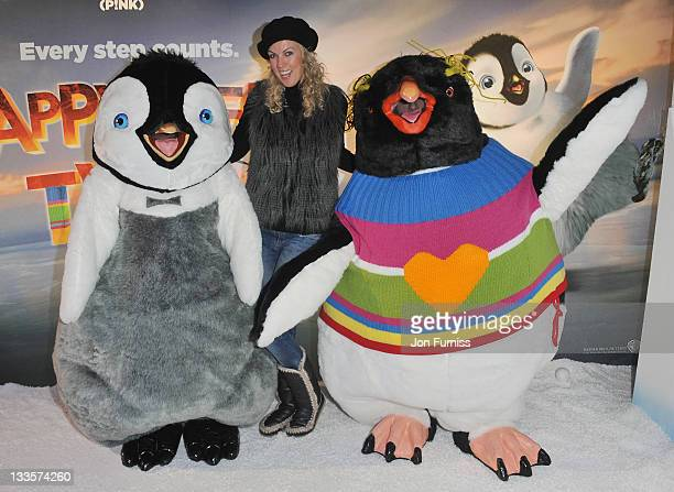 Nikki Zilli attends the prepremiere party for Happy Feet Two at Grand Connaught Rooms on November 20 2011 in London England