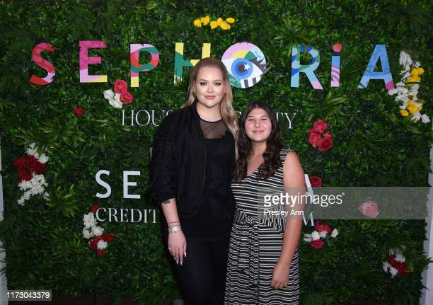 Nikkie de Jager and Mackenzie Hancsicsak attend SEPHORiA House of Beauty – Day One at The Shrine Auditorium on September 07 2019 in Los Angeles...