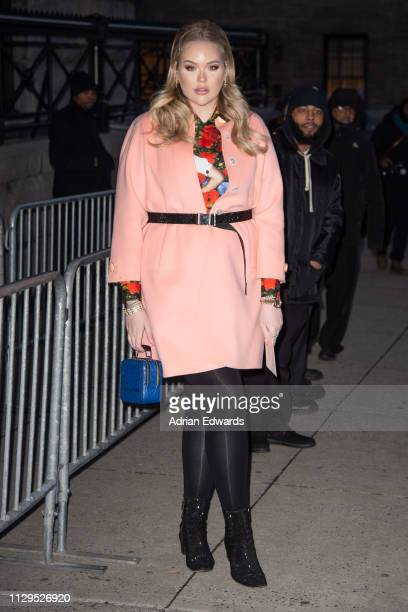 Nikkie de Jager at the Marc Jacobs fashion show on February 13 2019 in New York City
