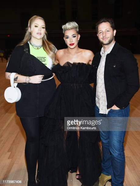 Nikkie de Jager James Charles and Derek Blasberg attend the Marc Jacobs Spring 2020 Runway Show at Park Avenue Armory on September 11 2019 in New...