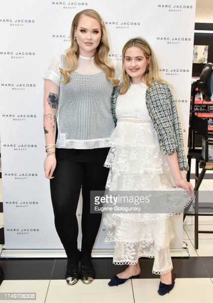 Nikkie Tutorials and Sarah Bray attend the Meet Marc Jacobs Beauty Global Artistry Ambassador Nikkie Tutorials at Sephora Times Square on June 13...