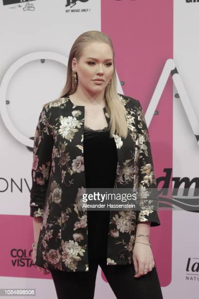 Nikkie Tutorials arrives at the pink carpet for the GLOW The Beauty Convention at Station on October 27 2018 in Berlin Germany