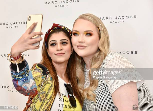 Nikkie Tutorials greets fans at the Meet Marc Jacobs Beauty Global Artistry Ambassador Nikkie Tutorials at Sephora Times Square on June 13 2019 in...