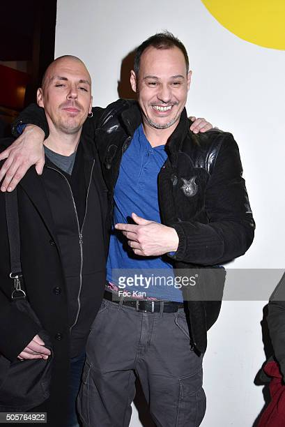 Nikko Dogz and Gael Leforestier attend the 'Polish Hope' Short Movie Screening Party at Cinema Grand Action on January 19 2016 in Paris France