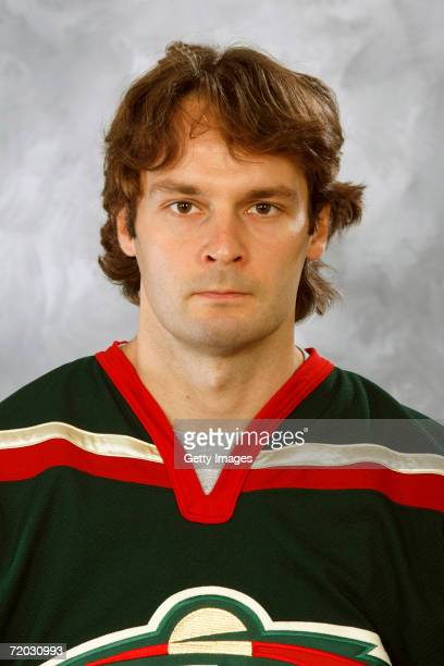 Niklas Backstrom of the Minnesota Wild poses for a portrait on September 14 2006 at the Xcel Energy Center in Saint Paul Minnesota