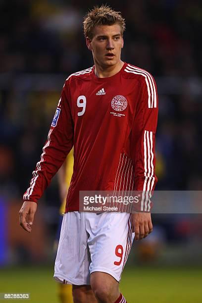 Niklas Bendtner of Denmark during the FIFA2010 World Cup Qualifying Group 1 match between Sweden and Denmark at the Rasunda Stadium on June 6, 2009...