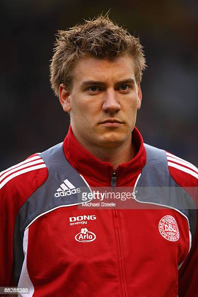 Niklas Bendtner of Denmark during the FIFA2010 World Cup Qualifying Group 1 match between Sweden and Denmark at the Rasunda Stadium on June 6 2009 in...