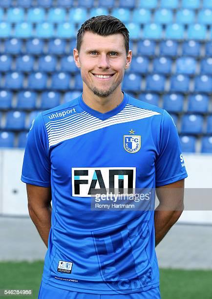 Niklas Brandt poses during the team presentation of 1 FC Magdeburg at MDCCArena on July 7 2016 in Magdeburg Germany Niklas Brandt