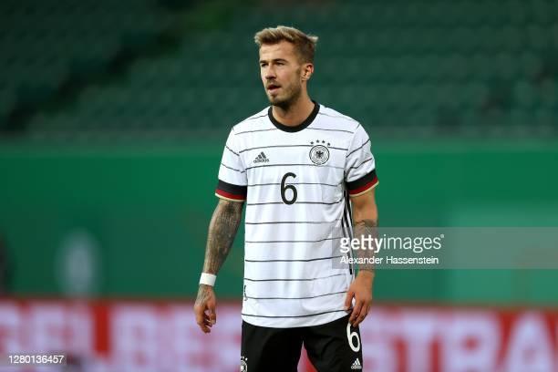 Niklas Dorsch of Germany looks on during the UEFA Euro Under 21 Qualifier match between Germany U21 andBosnia-Herzegovina U21 at Sportpark Ronhof...
