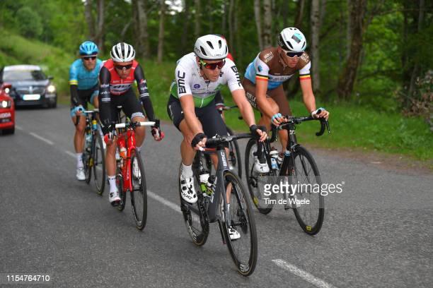 Niklas Eg of Denmark and Team TrekSegafredo / Julien Vermote of Belgium and Team Dimension Data / Oliver Naesen of Belgium and Team AG2R La Mondiale...