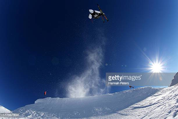 Niklas Eriksson of Sweden competes in the FIS Freestyle Ski Slopestyle World Cup Qualifying during day nine of the Winter Games NZ at Cardrona Alpine...