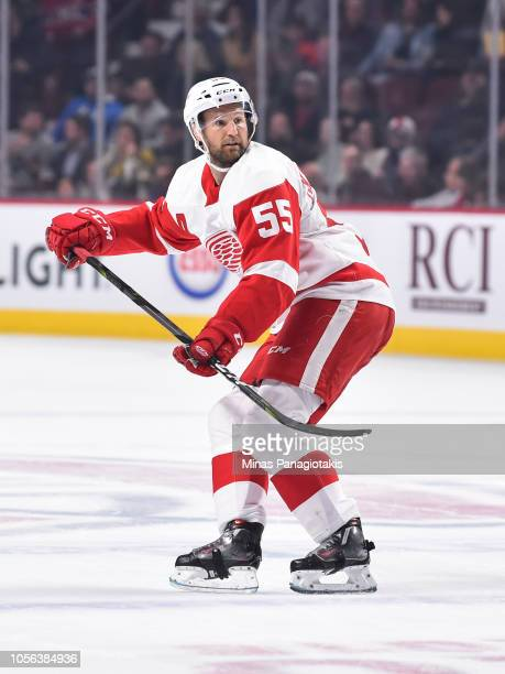 Niklas Kronwall of the Detroit Red Wings skates against the Montreal Canadiens during the NHL game at the Bell Centre on October 15 2018 in Montreal...