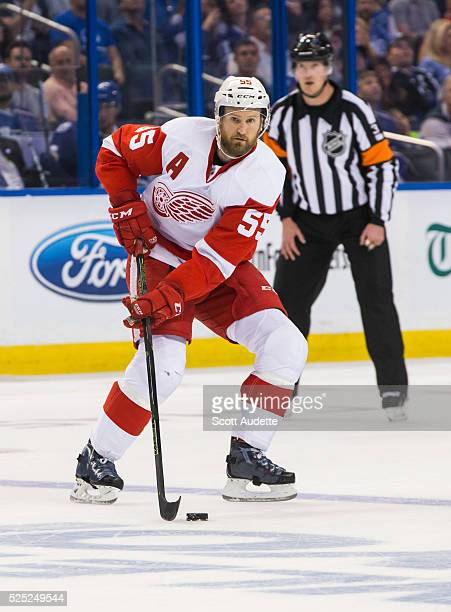 Niklas Kronwall of the Detroit Red Wings skates against the Tampa Bay Lightning during Game Five of the Eastern Conference First Round in the 2016...