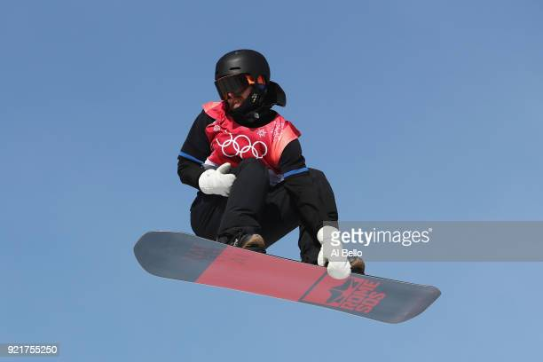Niklas Mattsson of Sweden competes during the Men's Big Air Qualification on day 12 of the PyeongChang 2018 Winter Olympic Games at Alpensia Ski...