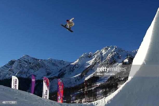 Niklas Mattsson of Sweden competes during the Snowboard Men's Slopestyle Semifinals during day 1 of the Sochi 2014 Winter Olympics at Rosa Khutor...