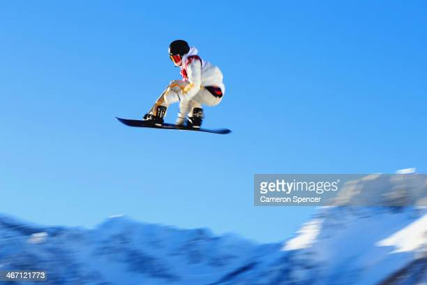 Niklas Mattsson of Sweden competes in the Men's Slopestyle Qualification during the Sochi 2014 Winter Olympics at Rosa Khutor Extreme Park on...
