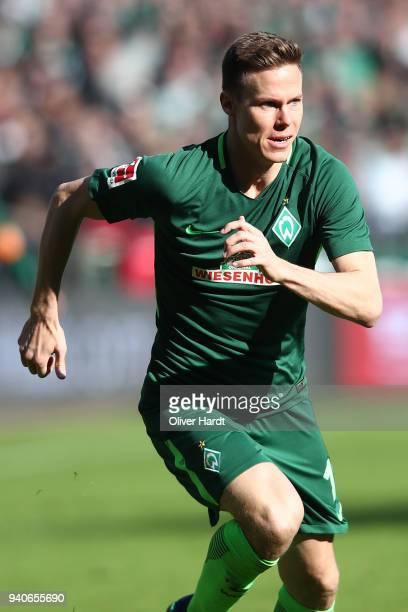 Niklas Moisander of Bremen in action during the Bundesliga match between SV Werder Bremen and Eintracht Frankfurt at Weserstadion on April 1 2018 in...