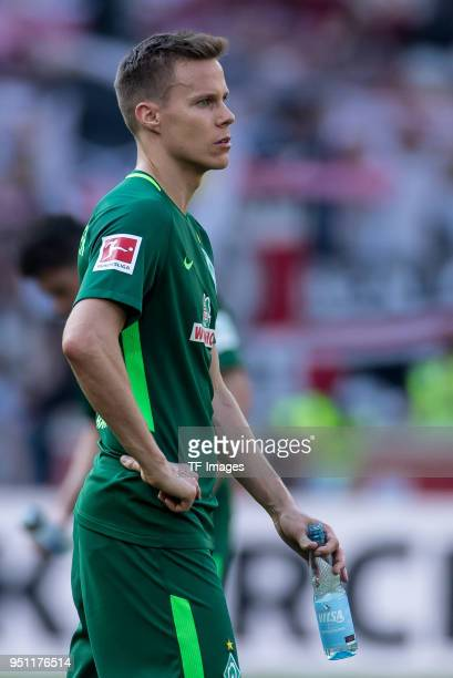 Niklas Moisander of Bremen looks dejected during the Bundesliga match between VfB Stuttgart and SV Werder Bremen at MercedesBenz Arena on April 21...