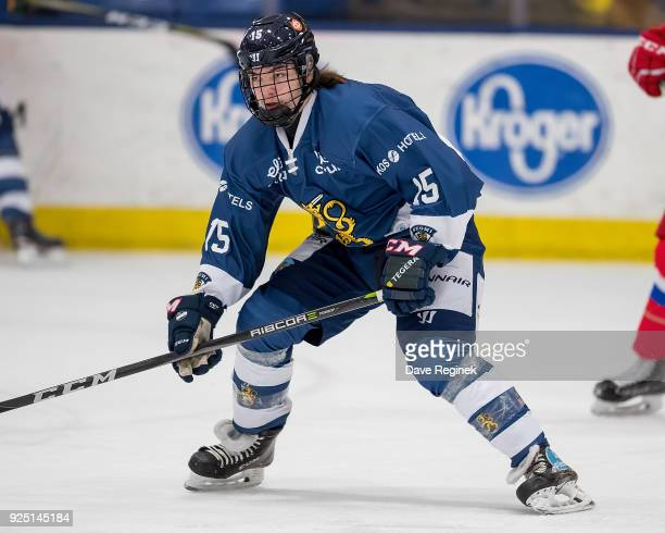 Niklas Nordgren of the Finland Nationals follows the play against the Russian Nationals during the 2018 Under18 Five Nations Tournament game at USA...