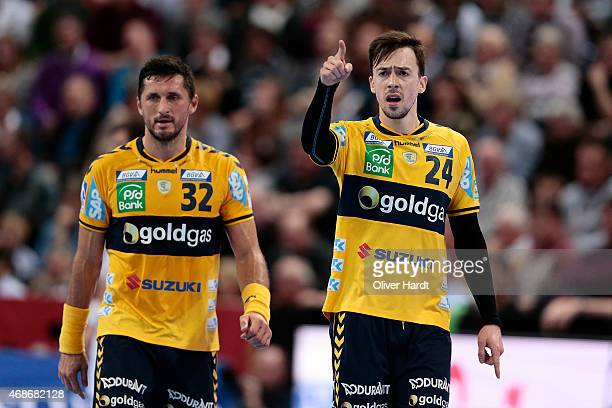 Niklas Patrick Groetzki of Rhein Neckar in action during the DKB HBL Bundesliga match between THW Kiel and Rhein Neckar Loewen at Sparkassen Arena on...