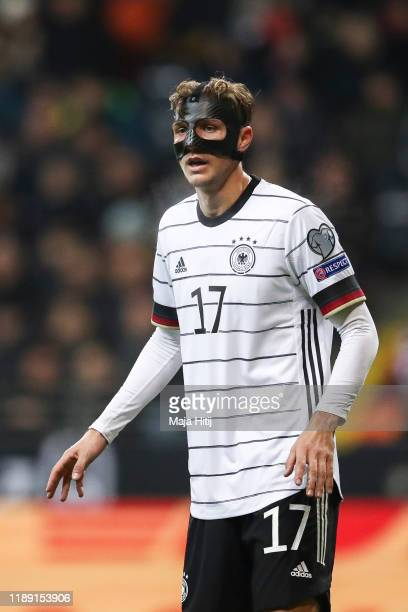 Niklas Stark of Germany looks on during the UEFA Euro 2020 Qualifier between Germany and Northern Ireland at Commerzbank Arena on November 19, 2019...
