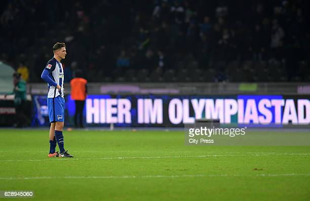 Niklas Stark of Hertha BSC after the game between Hertha BSC and Werder Bremen on december 10 2016 in Berlin Germany