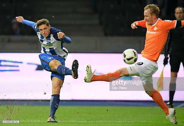 Niklas Stark of Hertha BSC and Jan Rosenthal of SV Darmstadt 98 during the game between Hertha BSC and SV Darmstadt 98 on december 21 2016 in Berlin...