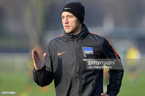 Niklas Stark of Hertha BSC during the training on december 7 2016 in Berlin Germany