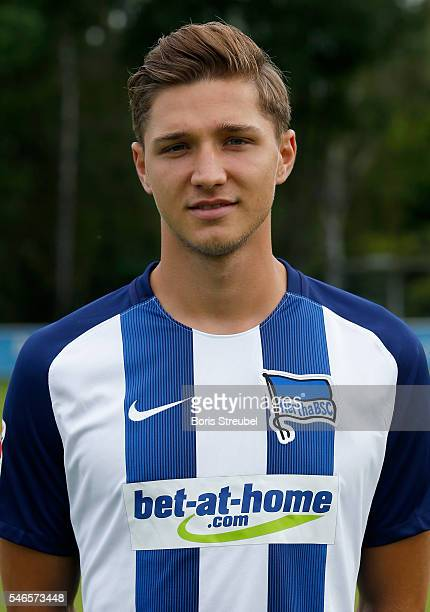 Niklas Stark of Hertha BSC poses during the Hertha BSC Team Presentation on July 12 2016 in Berlin Germany