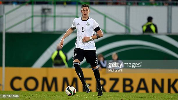 Niklas Suele of Germany controls the ball during the 2017 UEFA European U21 Championships Qualifier between U21 Germany and U21 Austria at Stadion am...