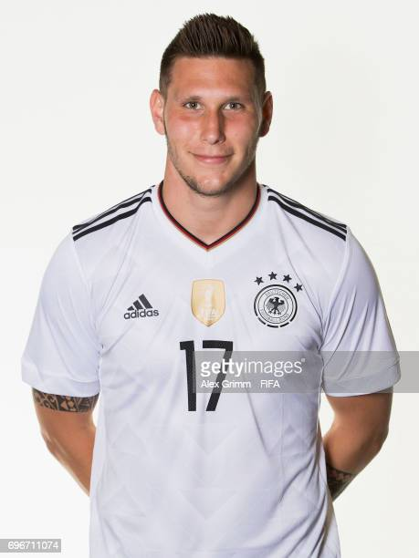 Niklas Suele poses for a picture during the Germany team portrait session on June 16 2017 in Sochi Russia