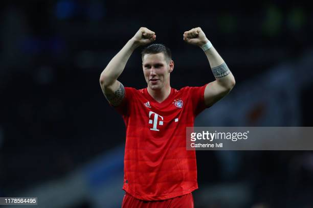Niklas Sule of Bayern Munich during the UEFA Champions League group B match between Tottenham Hotspur and Bayern Muenchen at Tottenham Hotspur...