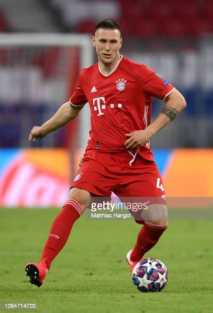 Niklas Sule of Bayern Munich in action during the UEFA Champions League round of 16 second leg match between FC Bayern Muenchen and Chelsea FC at...