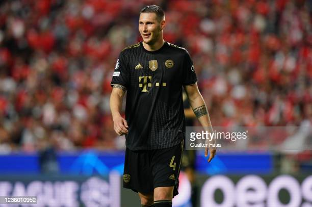 Niklas Sule of FC Bayern Munchen during the Group E - UEFA Champions League match between SL Benfica and Bayern Munchen at Estadio da Luz on October...