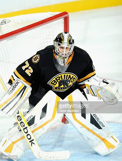 Niklas Svedberg of the Boston Bruins plays in the game against the Colorado Avalanche at TD Garden on October 13 2014 in Boston Massachusetts