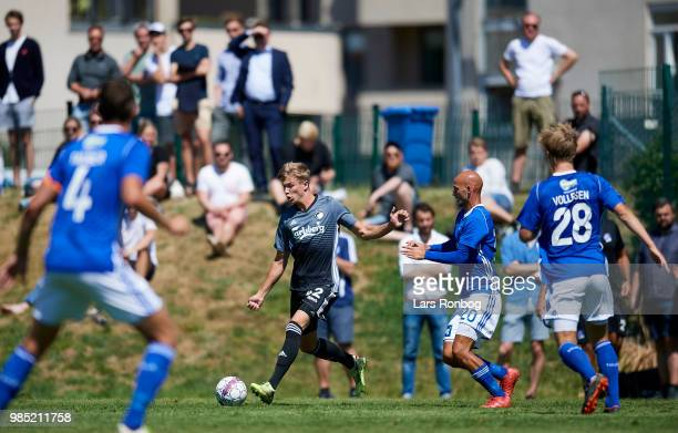 Niklas Vesterlund of FC Copenhagen in action during the friendly match between FC Copenhagen and Lyngby Boldklub at KB's baner on June 27 2018 in...