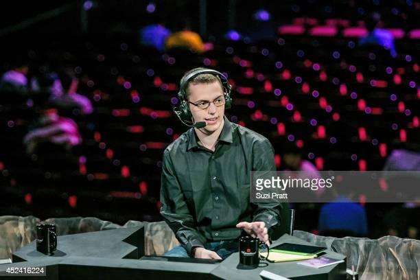 Niklas 'Wagmamma' Hogstrom at The International DOTA 2 Championships at Key Arena on July 19 2014 in Seattle Washington