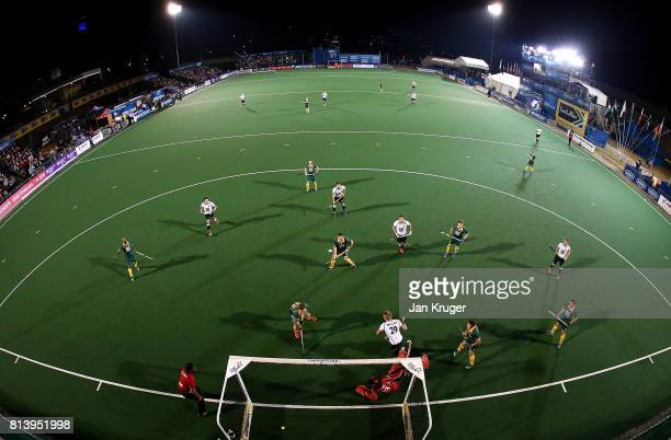 Niklas Wellen of Germany scores a goal during day 3 of the FIH Hockey World League Semi Finals Pool B match between South Africa and Germany at Wits...