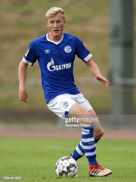 Niklas Wiemann of Schalke 04 during the Club Friendly match between Schalke 04 v Schwarz Weiss Essen at the Uhlenkrugstadion on July 21 2018 in Essen...