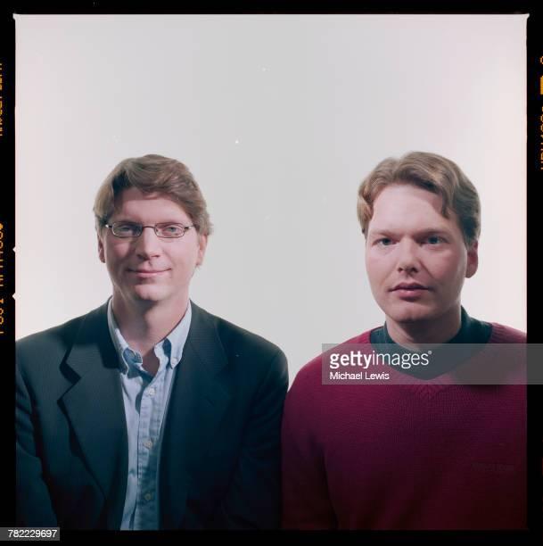 CEO Niklas Zennstrom and Vice President Janus Friis of Skype a peertopeer internet telephony company