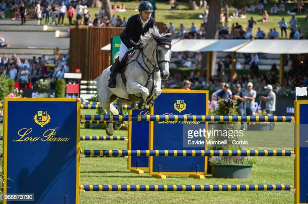 Niklaus RUTSCHI of Switzerland riding Clearwater during Loro Piana Grand Prix Piazza di Sienna on May 26 2018 in Villa Borghese Rome Italy nUnited...