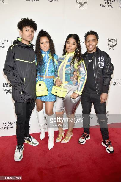 Niko Brim Madison Star Brim Misa Hylton Brim and Justin Combs attend the premiere of The Remix Hip Hop x Fashion at Tribeca Film Festival at Spring...