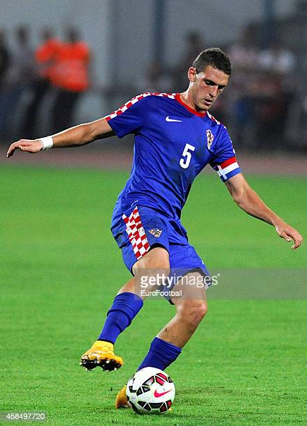Niko Datkovic of Croatia in action during the UEFA U21 Championship Playoff Second Leg match between Croatia and England at the Stadion Hnk Cibalia...