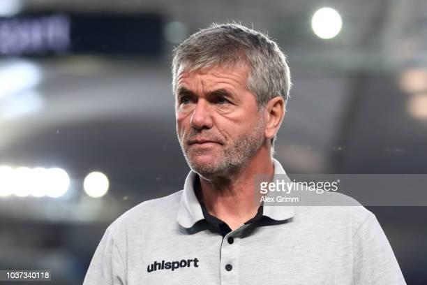 Niko Giesselmann and team mates react after the Bundesliga match between VfB Stuttgart and Fortuna Duesseldorf at MercedesBenz Arena on September 21...