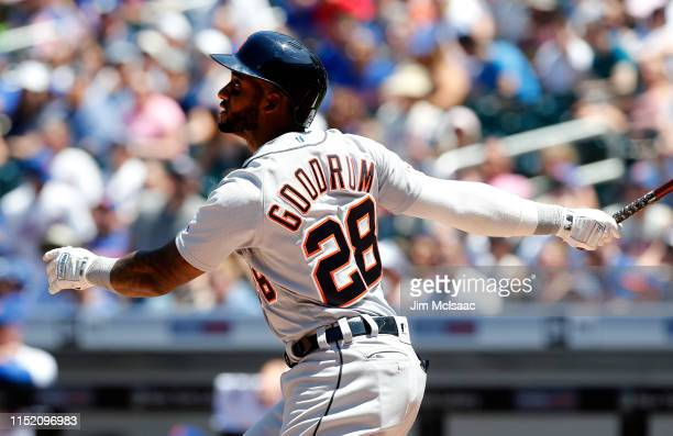 Niko Goodrum of the Detroit Tigers in action against the New York Mets at Citi Field on May 26 2019 in New York City The Mets defeated the Tigers 43